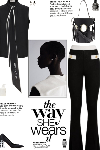 How to wear a Cashmere Silk Bootcut Trousers!