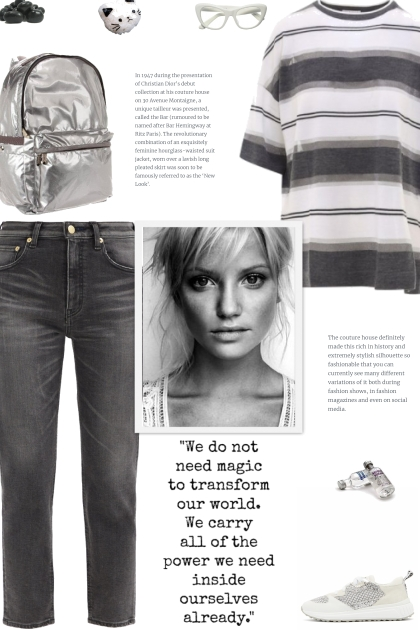 How to wear an Oversized Striped T-Shirt!