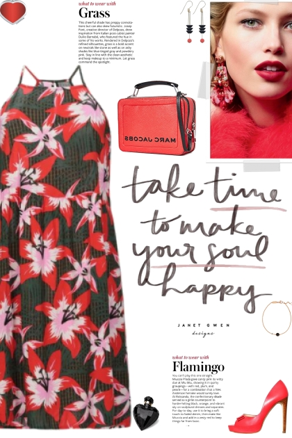 How to wear a Floral Print Square Neck Dress!