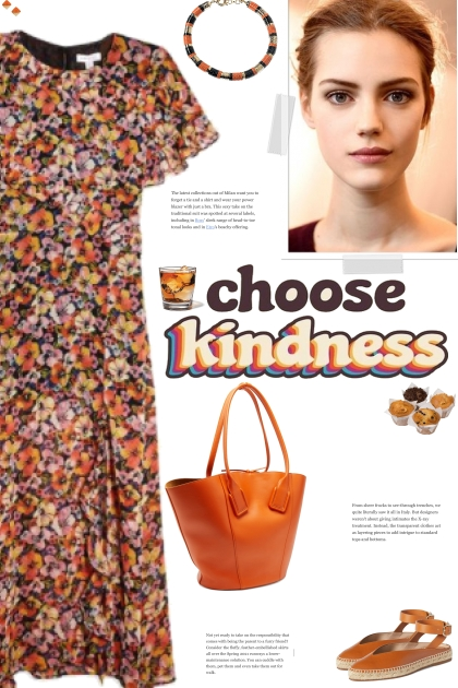 How to wear a Floral Print 3/4 Length Dress!