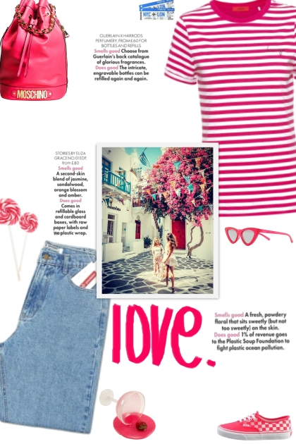 How to wear a Striped Fitted Short Sleeve Top!