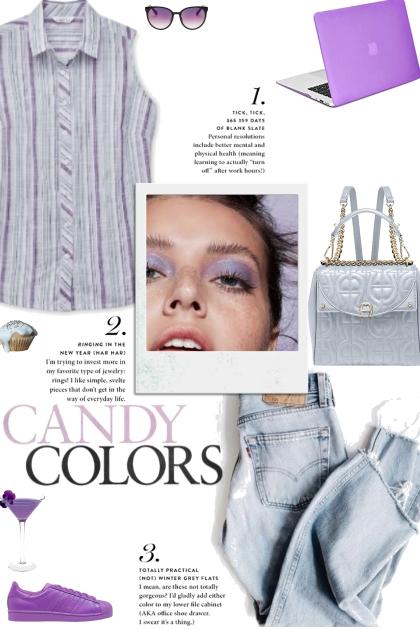 How to wear a Striped Collar Sleeveless Shirt!