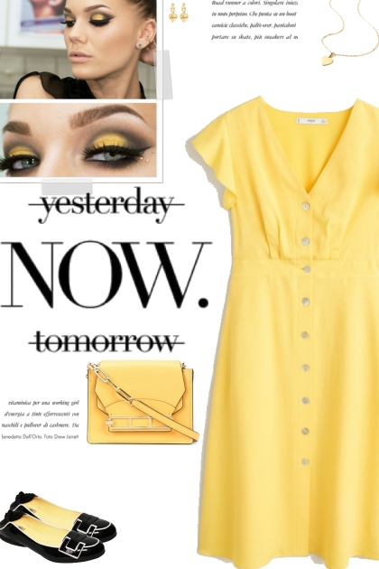 How to wear a Solid Color Ruffle Detail Dress!- 搭配