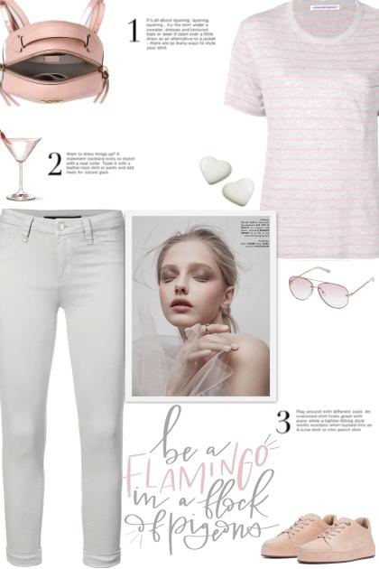 How to wear a Striped Linen-Blend T-Shirt!