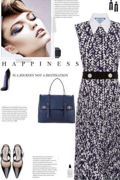 How to wear a Geometric Print Belted Midi Dress!