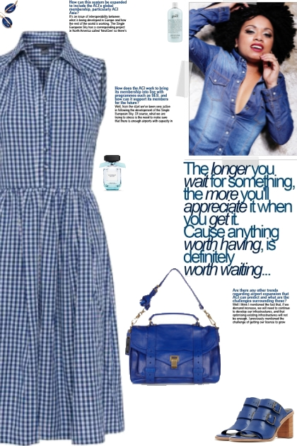 How to wear a Checked Collar Shirtdress!