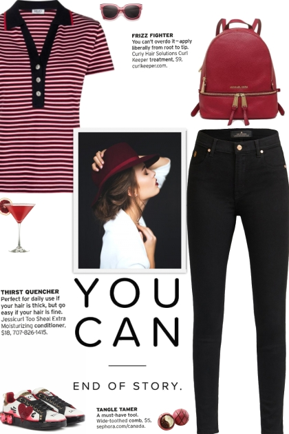 How to wear a Striped Polo Collar T-Shirt!