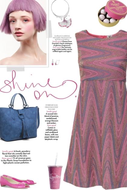 How to wear an Abstract Print A-Line Dress!- Fashion set