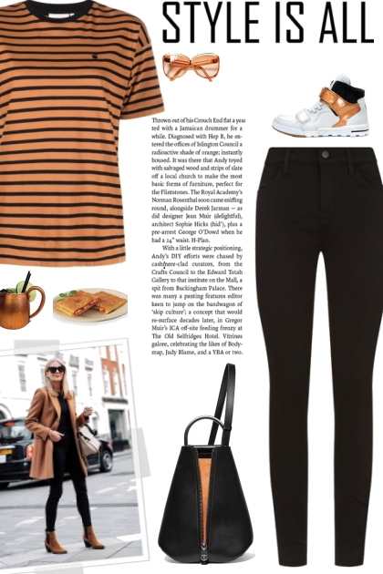 How to wear a Striped Round Neck T-Shirt!