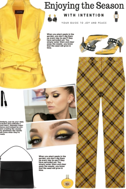 How to wear Checked Tailored Trousers!