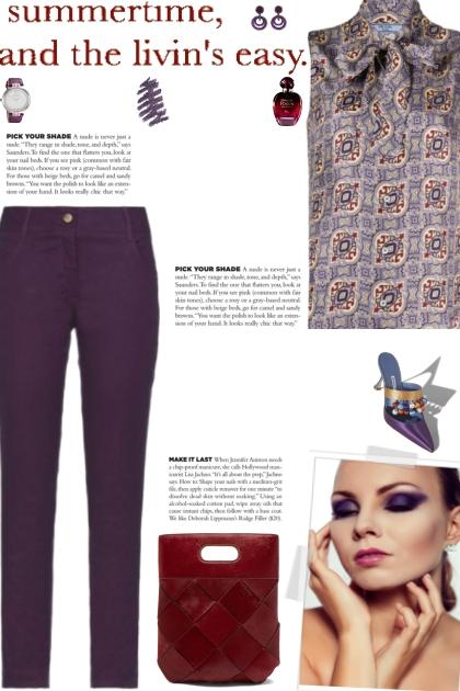 How to wear a Arabesque-Motif Print Top!