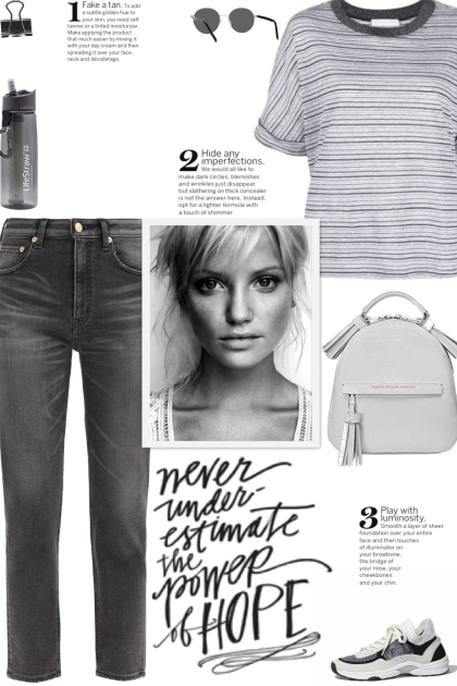 How to wear a Striped Rolled Sleeve T-Shirt!