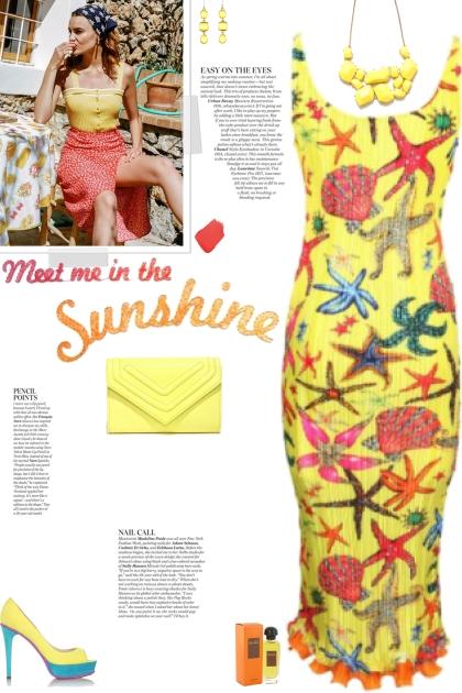 How to wear a Starfish Print Sleeveless Dress!