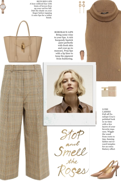 How to wear Check Pattern Wool Culottes!