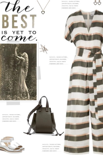 How to wear a Striped Organza Jumpsuit!- combinação de moda