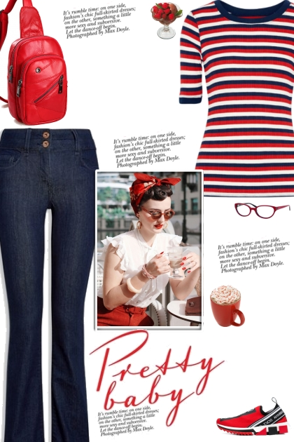 How to wear a Striped Ribbed Knit Top!