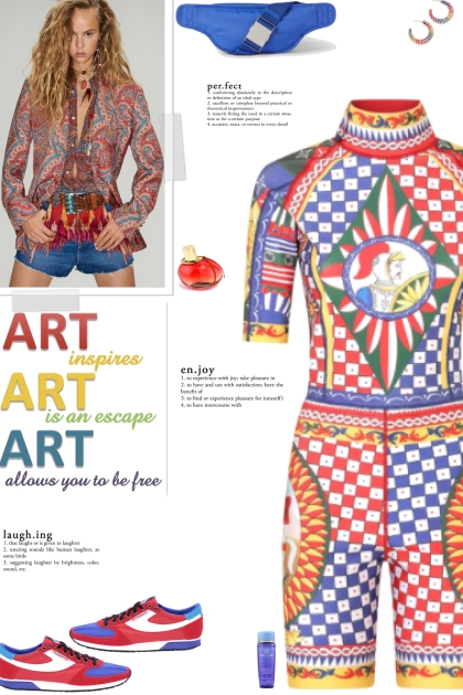 How to wear a Multicolored Multipatterned Romper!