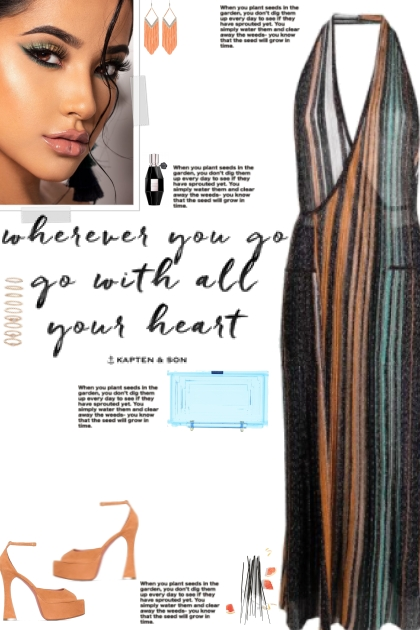 How to wear a Striped Metallic Halter Neck Dress!