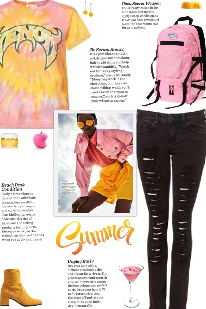 How to wear a Graphic Print Tie-Dye T-Shirt!- Fashion set