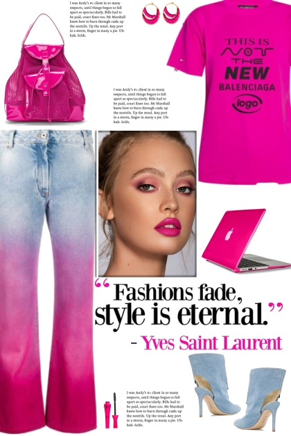 How to wear a Ombre Effect Cotton Jeans!