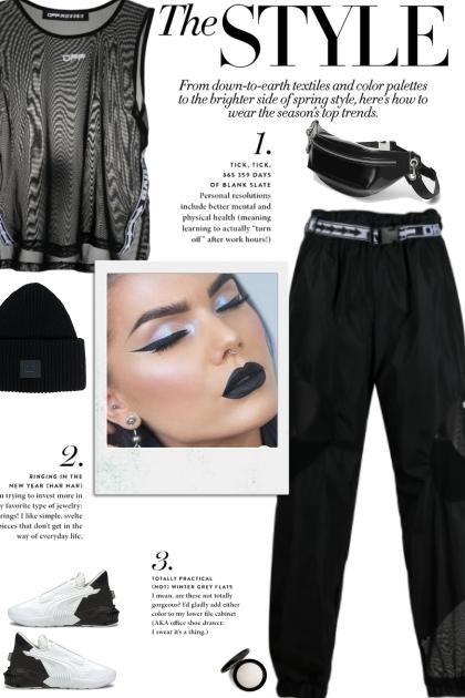 How to wear a Polymide Semi-Sheer Pants!- Fashion set