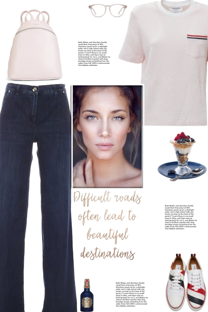 How to wear a Striped Cotton T-Shirt!- Combinaciónde moda