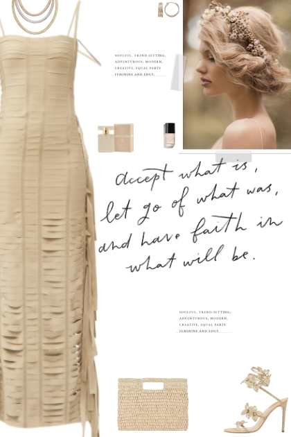 How to wear a Fringed Banded Long Dress!- 搭配
