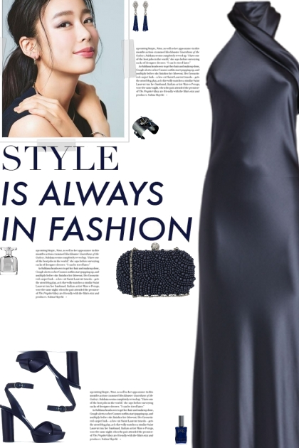 How to wear a Halter Neck Satin Long Dress!