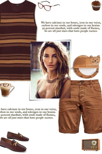 How to wear a Striped Knit Sleeveless Top!- Combinaciónde moda
