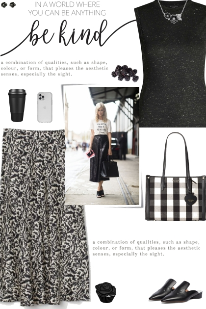 How to wear an Abstract Print Knee Length Skirt!