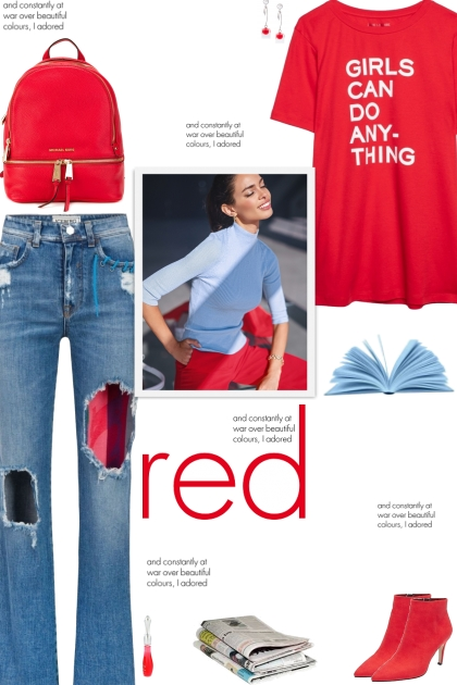 How to wear Ripped Faded Denim Jeans!