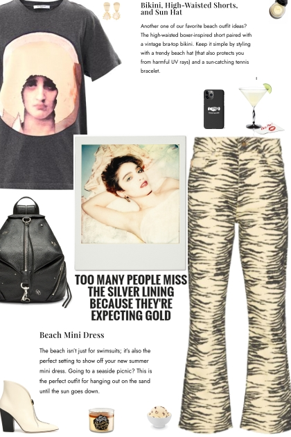 How to wear Animal Print Wide Leg Jeans!