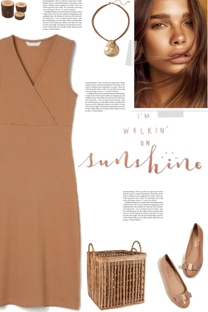 How to wear a Ribbed Cotton Sleeveless Dress!- combinação de moda