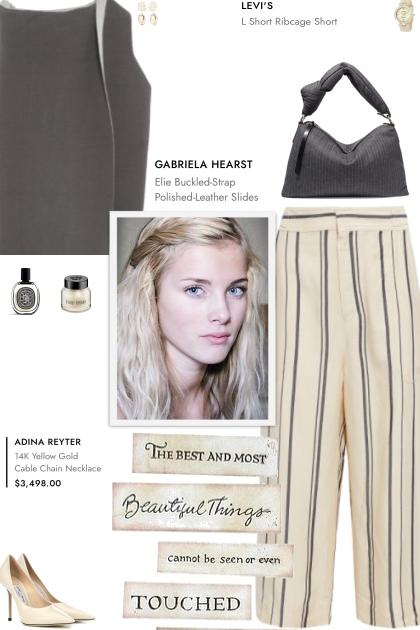 How to wear Striped High Rise Culottes!- combinação de moda