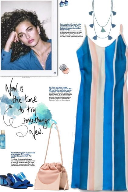 How to wear a Striped Slip Style Dress!