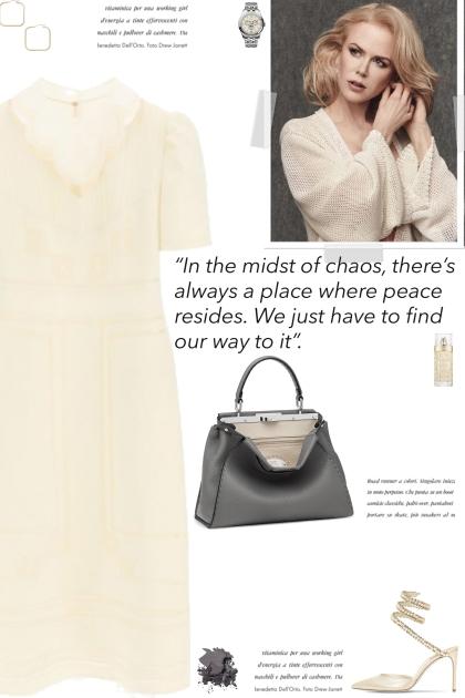 How to wear a Linen Geometric Details Dress!