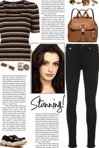 How to wear a Striped Fine-Ribbed T-Shirt!- Modna kombinacija