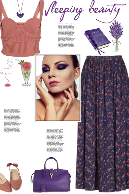 How to wear a Floral Print Plain Weave Maxi Skirt!
