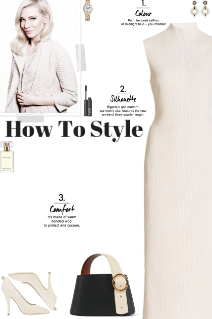 How to wear a Mock High Neck Ribbed Dress!- 搭配