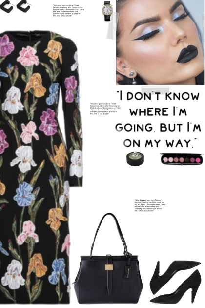 How to wear a Floral Long Sleeve Crepe Dress!