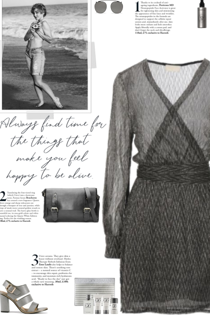 How to wear a Semi-Sheer Long Sleeve Dress!