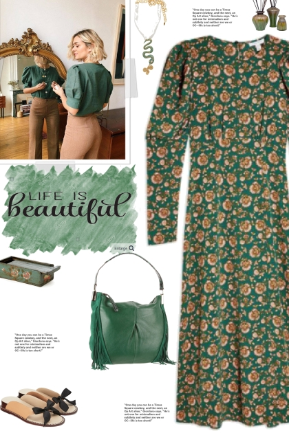 How to wear a Floral Print Long Sleeve Dress!