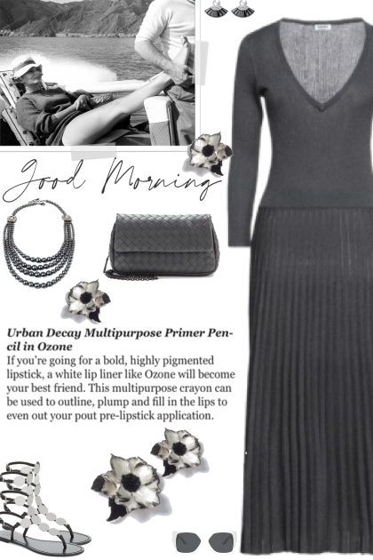 How to wear a Knitted Pleated Maxi Dress!