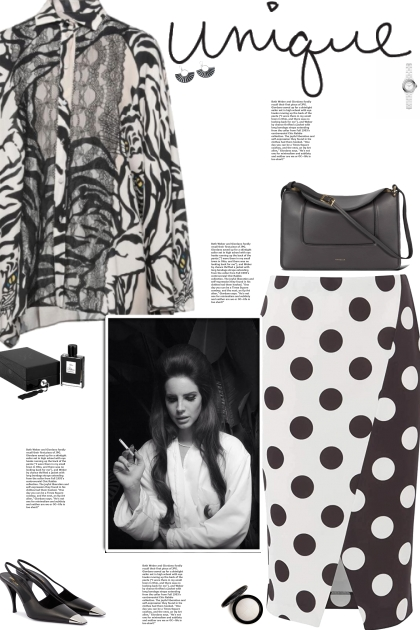How to wear a Lace Animal Print Long Sleeve Shirt!