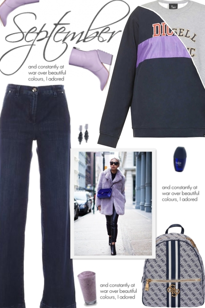 How to wear a Patchwork Detail Sweatshirt!