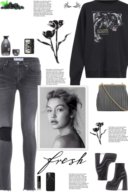 How to wear Ribbed Frayed Skinny Jeans!
