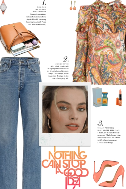 How to wear a Floral Long Sleeve Blouse!