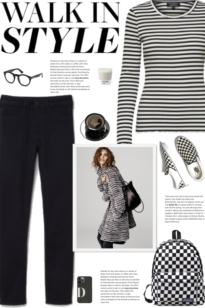 How to wear a Striped Long Sleeve Fitted T-Shirt!