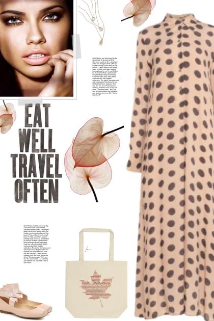 How to wear a Polka Dot Long Sleeve Maxi Dress!