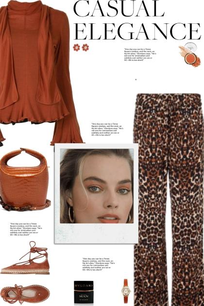 How to wear Leopard Print Wide Leg Trousers!